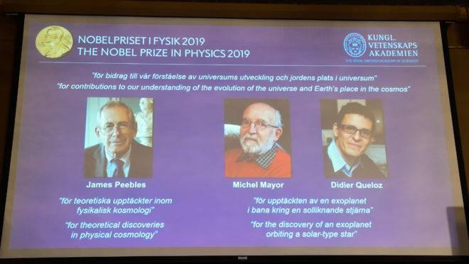vencedores do prêmio nobel de física 2019