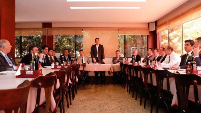 Reunião do governador Ratinho Junior (PSD) com a bancada federal do Paraná.
