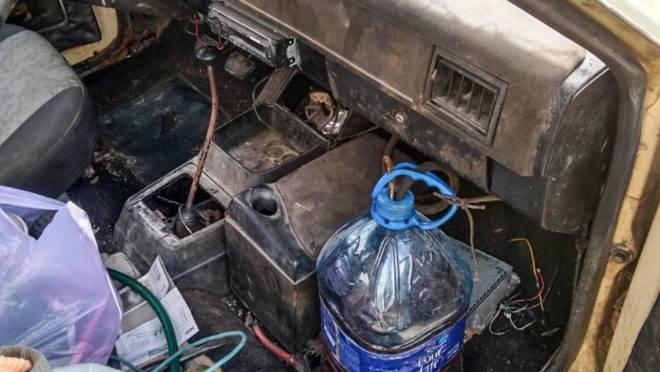 Belina usava garrafão de água como tanque de combustível, além de ter outras irregularidades.