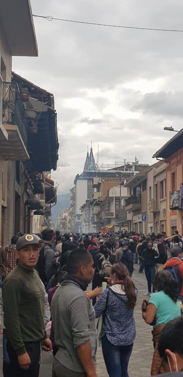 Manifestações contra o governo do presidente do Equador Lenín Moreno em Cuenca, 9 de outubro de 2019