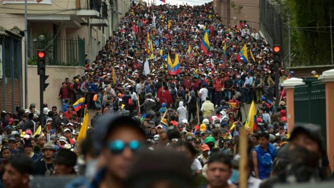 Protesto no Equador