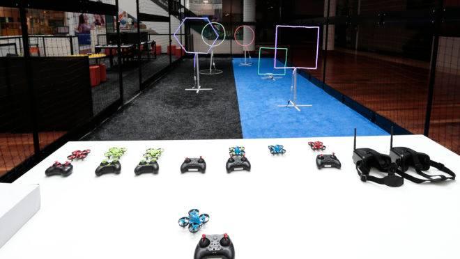 Pista de Drones para crianças no Shopping Crystal .