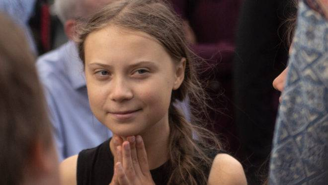 A ativista ambiental sueca Greta Thunberg