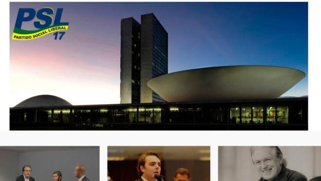 Site do PSL: Bolsonaro não aparece