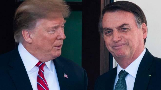 O presidente dos Estados Unidos, Donald Trump, e o presidente do Brasil, Jair Bolsonaro