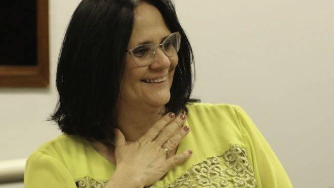 A ministra da Mulher, Família e Direitos Humanos, Damares Alves: grupo com mais de 800 entidades apoia entrada do Brasil em Conselho de Direitos Humanos da ONU