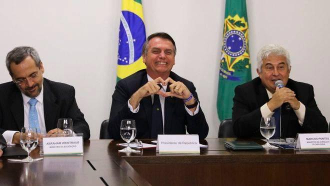 Fusão CNPq-Capes: Bolsonaro, Abraham Weintraub e Marcos Pontes