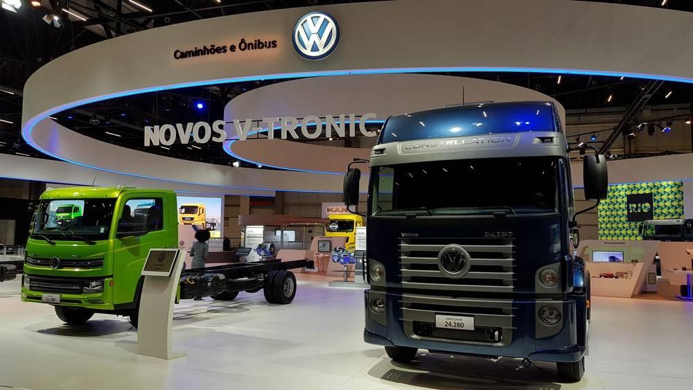 Evolução do câmbio automatizado V-Tronic  nas linhas Delivery e Costellation. Foto: Renyere Trovão/ Gazeta do Povo