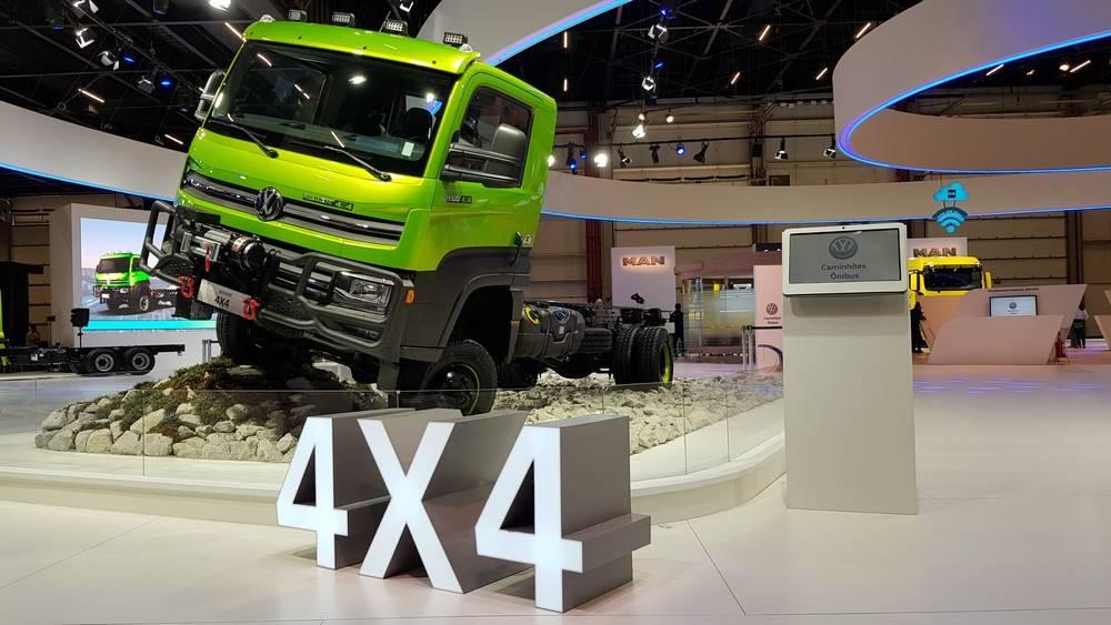 Delivery 11.180 4x4 é a novidade da VW para aplicações off road. Foto: Renyere Trovão/ Gazeta do Povo