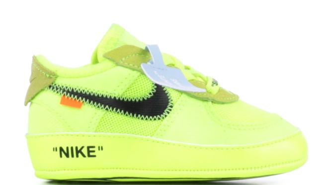Tênis Nike OFF-White infantil (com lacre): cálculo capitalista, inveja e cafonice.