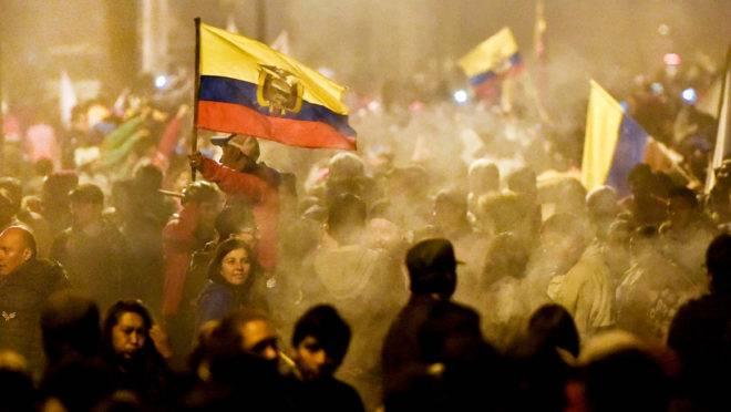 Fim dos protestos no Equador