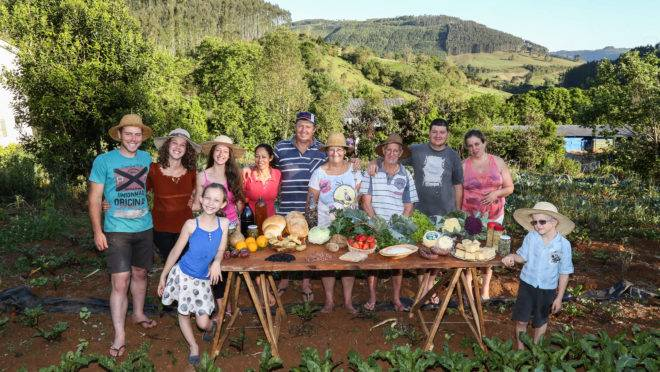 Expedição Agricultura Familiar em Ponte Serrada com a familia Pagliari.