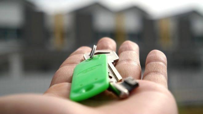 Molho de chaves para o imóvel novo
