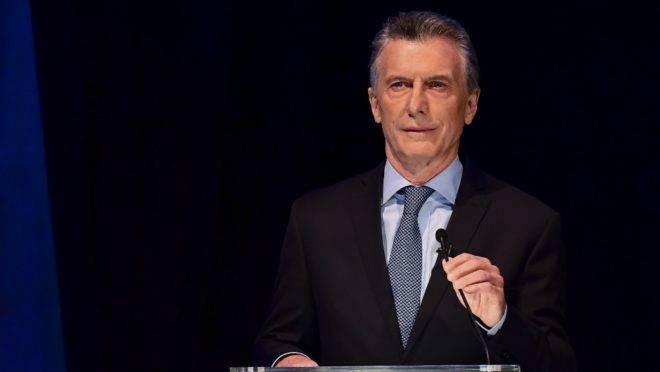 O presidente da Argentina, Mauricio Macri, candidato na eleição presidencial de 27 de outubro