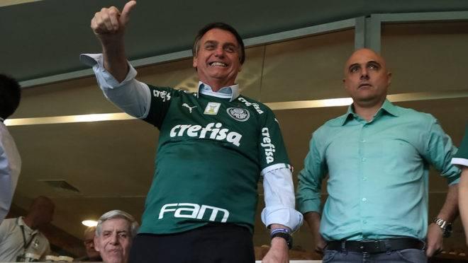 Presidente da República, Jair Bolsonaro, é torcedor do Palmeiras