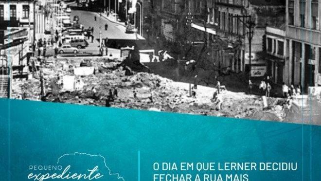 Podcast: a história do fechamento da Rua XV, o primeiro calçadão do país
