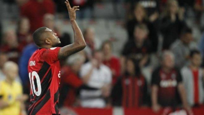 O atacante Marcelo Cirino foi o autor do gol do Athletico. Foto: André Rodrigues