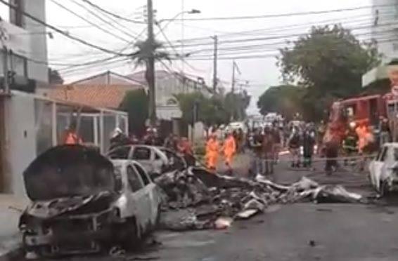 Avião caiu em BH e deixou três mortos nesta segunda-feira (21)