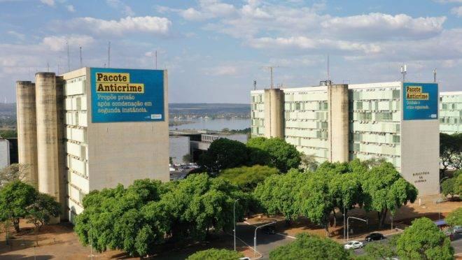 Tribunal de Contas da União (TCU) suspendeu campanha publicitária sobre o pacote anticrime.