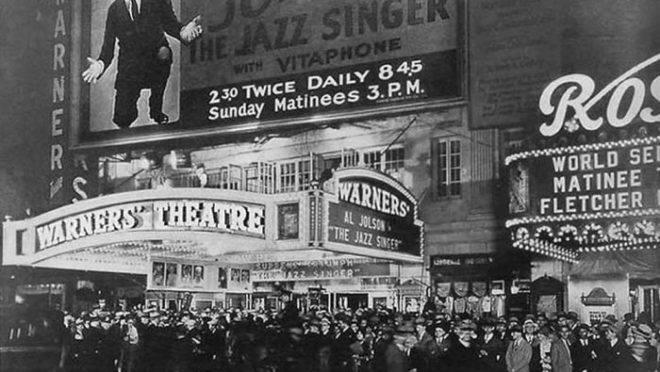 """Estreia de """"O Cantor de Jazz"""", em 1927"""