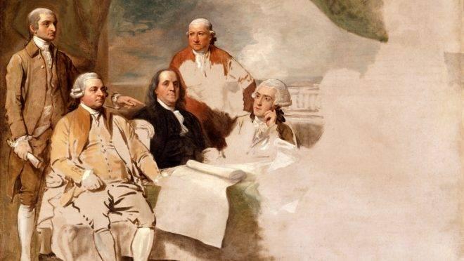 Assinatura do Tratado de Paris, por Benjamin West.