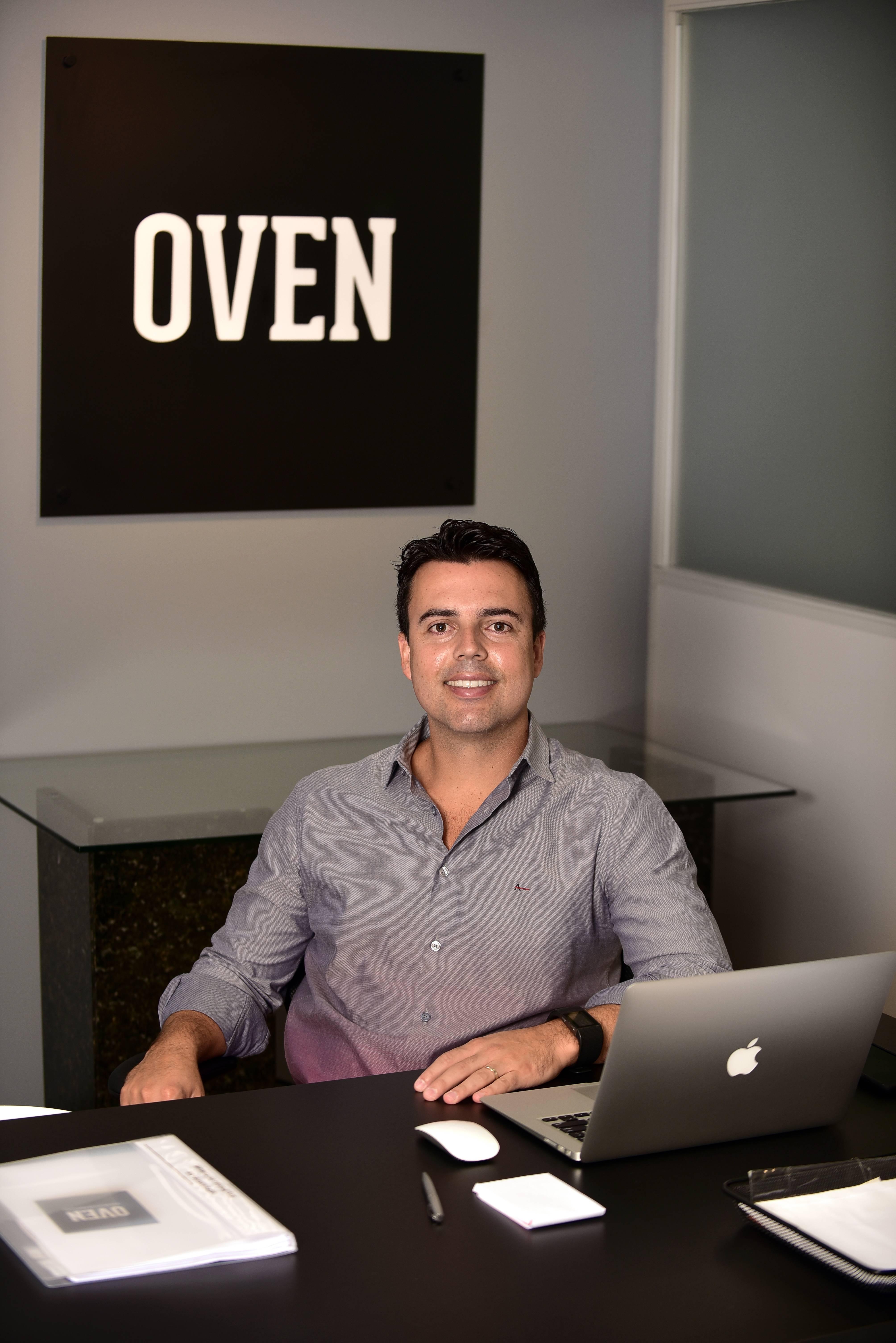 Rafael Soares é o fundador da Oven Pizza. Foto: arquivo pessoal.