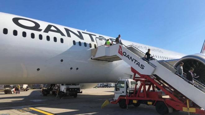 Desembarque em Sydney, após 20 horas de voo