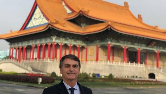 Bolsonaro na China em 2018.