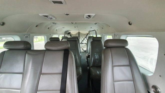 Espaço interno do Cessna 208 Grand Caravan