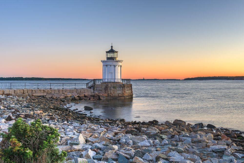 O amanhecer em South Portland, no Maine (EUA). Foto: Bigstock