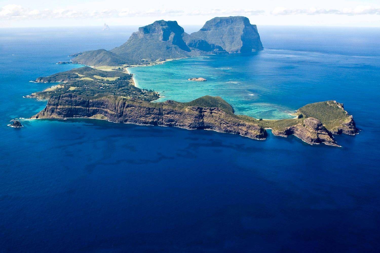 Ilha de Lord Howe, Austrália. Foto: Pinterest