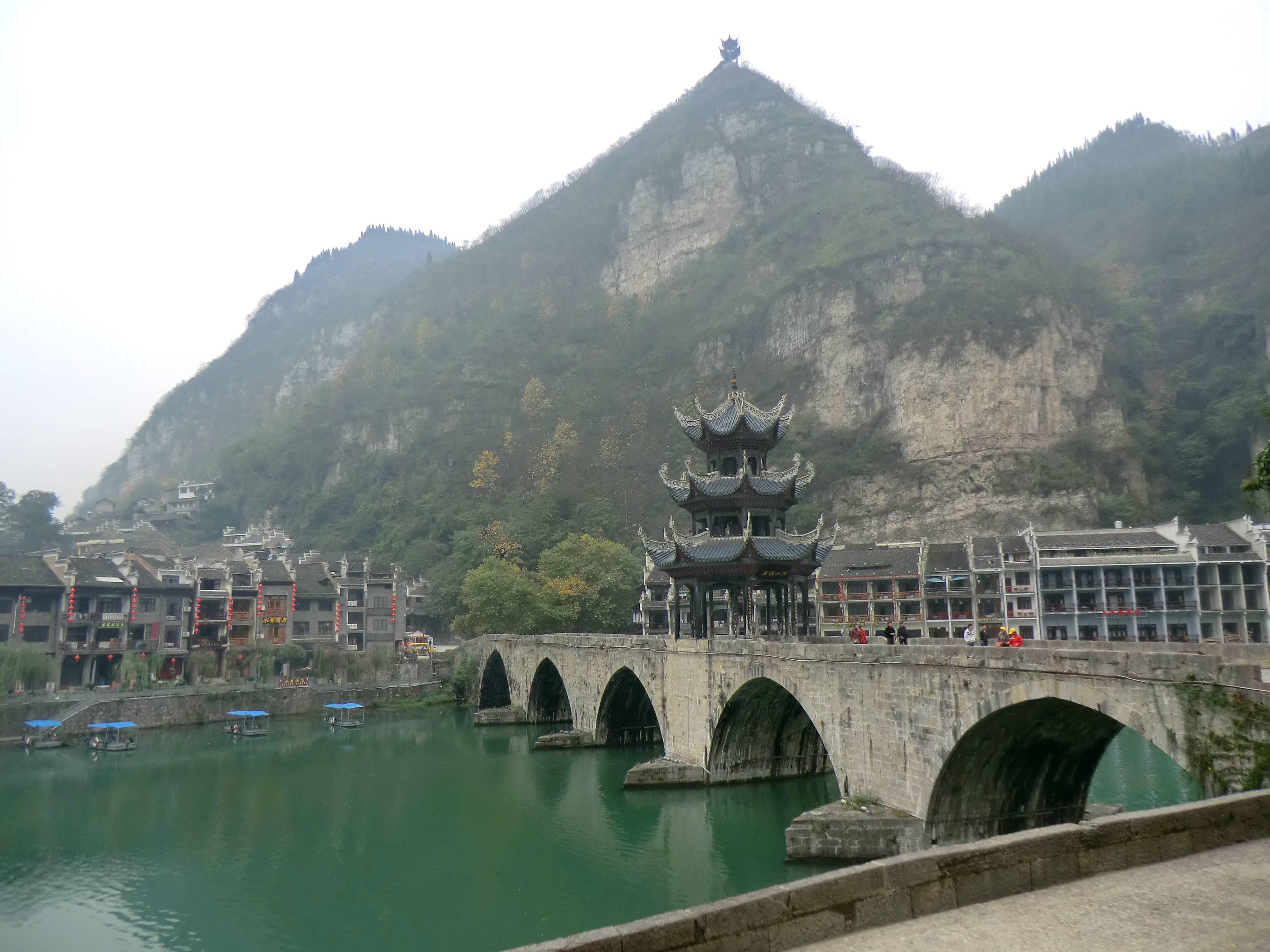Zhenyuan, na região de Guizhou,China. Foto: Wikimedia Commons<br />