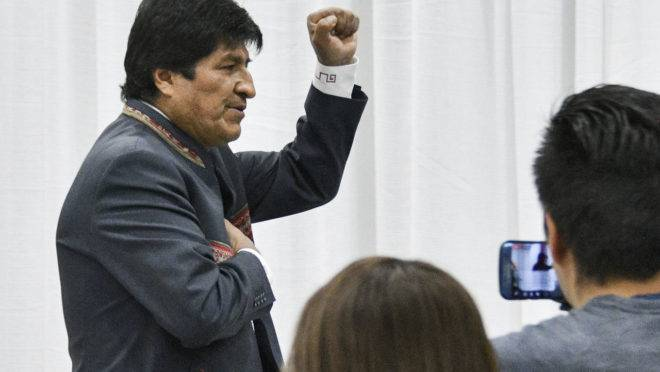 Tribunal eleitoral da Bolívia declara Evo Morales vitorioso. OEA contesta.