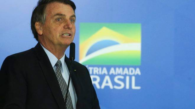 O  Presidente da República, Jair Bolsonaro.