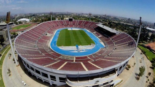 Estádio Nacional de Santiago do Chile será o local da final da Libertadores. Foto: Divulgação/Conmebol