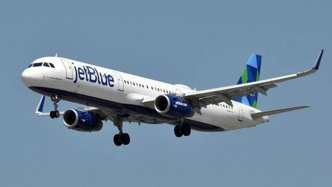 Aeronave da JetBlue Airwais.
