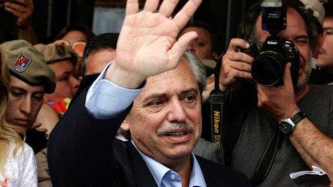 Alberto Fernández, eleito presidente da Argentina nas eleições de domingo