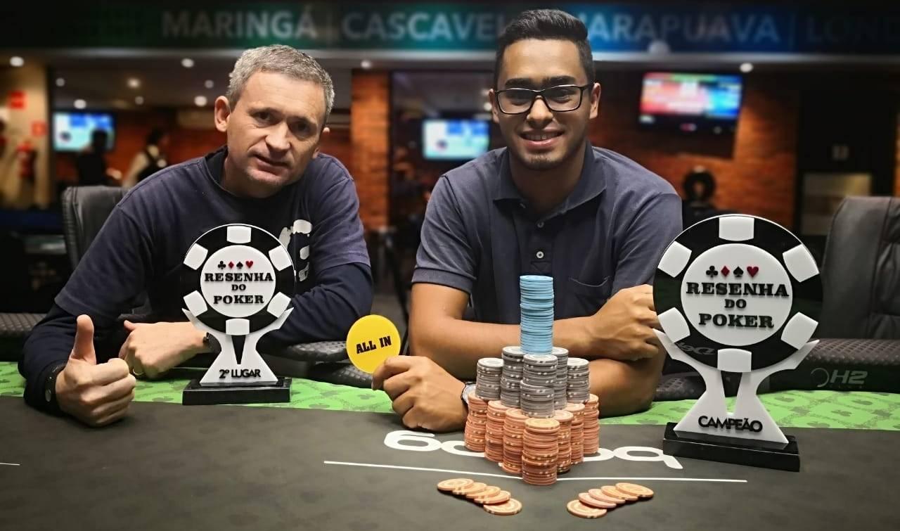 Emerson Borges (esquerda) ficou em segundo e Luiz Henrique (direita) foi o campeão