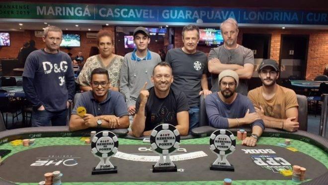 Mesa final da oitava etapa do Circuito Resenha do Poker. Foto: Divulgação/H2