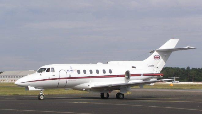 Jato executivo modelo British Aerospace Hawker 125,