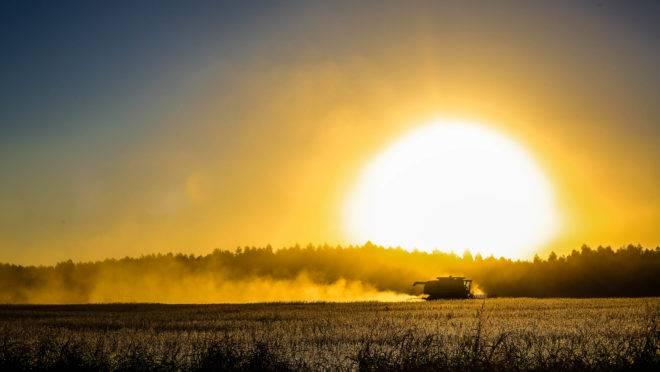 Colheita de soja em abril deste ano no Uruguai, Expedição Safra da Gazeta do Povo