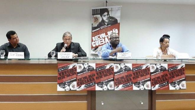 """Conferência em evento da UFPA: """"celebração"""" dos 60 anos da Revolução Cubana."""
