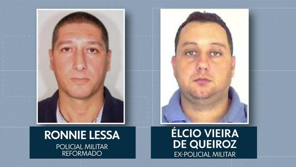 Ronnie Lessa e Elcio Queiroz, acusados pelo assassinato de Marielle Franco.