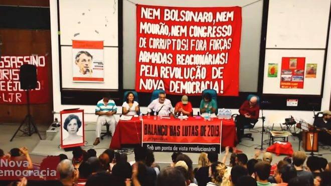 """Para participantes em evento, com o governo de Bolsonaro o Brasil vive uma """"barbárie""""."""