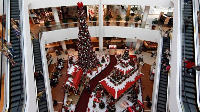 O natal no Shopping Palladium começa na quarta-feira (6).