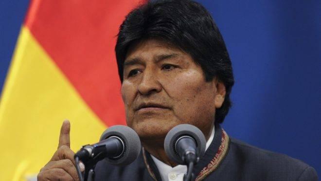 O presidente da Bolívia, Evo Morales, em coletiva de imprensa em La Paz, 31 de outubro de 2019