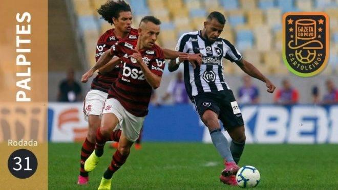 Palpites da 31ª rodada do Brasileirão 2019.