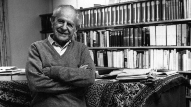 O filósofo austríaco Karl Popper