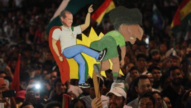 Protesto contra Evo Morales na Bolívia