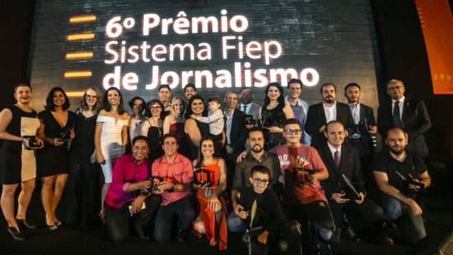 Todos os premiados da 6ª edição do Prêmio Sistema Fiep de Jornalismo
